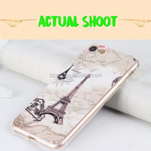 made in china/ fabrique en chine ODM OEM custm design 3d relief pu tpu mobile phone case for apple iphone 7