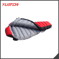 25 Degree 1500G Down Filling Mountain Winter Outdoor Camping Down Sleeping Bag Mummy Duck Down Thickening Sleeping Bags Adult