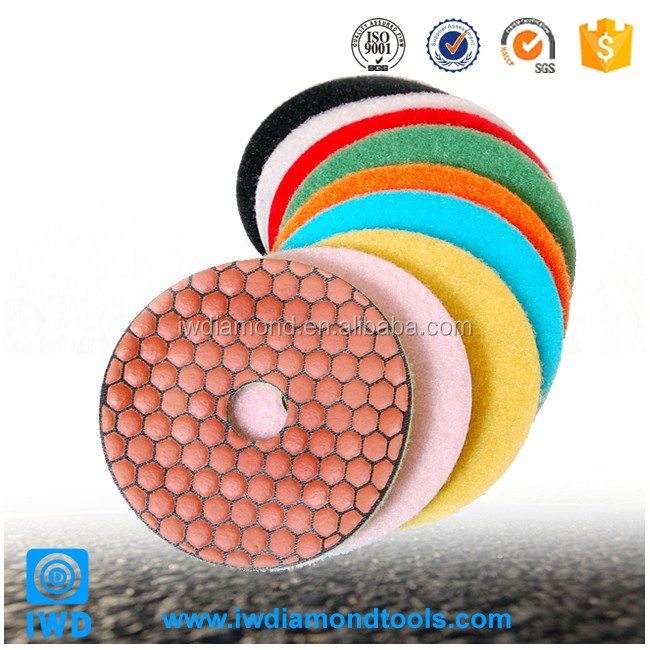 "4"" Polishing Pads for polishing or buffing granite, marble, natural stone and cured concrete"