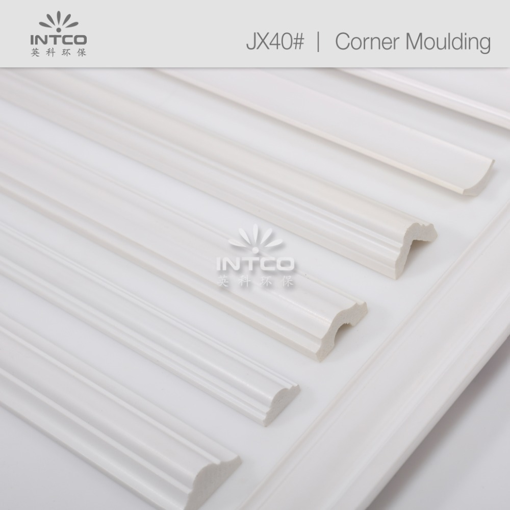 INTCO White Waterproof Decorative Polystyrene Corner <strong>Moulding</strong>