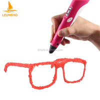 Hight quality CE approved 3D printing pen 3d stereo LED drawing pen