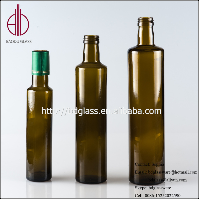 Professional olive oil glass bottle 100ml olive oil bottle pourer with great price