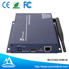HDMI Encoder H.265 Mpeg4 To Ethernet Modulator With 4 Channels Support ONVIF /HDCP For Iptv Streamig