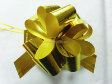 wholesale plastic pp gold pull ribbon bow