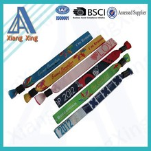 Promotional Customized heat transfer wrist bands with metal seal for event