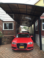 aluminum double carport/garage M style with polycarbonate roof