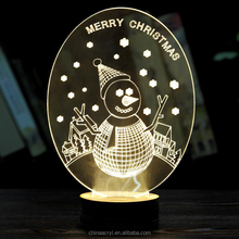 Acrylic Material Desktop Custom Led Lighting Pictures Christmas Decor