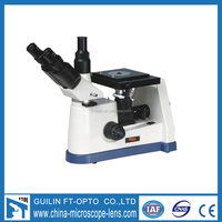 gold manufatory coaxial coarse & fine focusing adjustment inverted metallurgical microscope made in china
