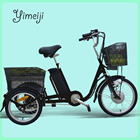 2017 new old people use 3 wheel electric bicycle with pedals