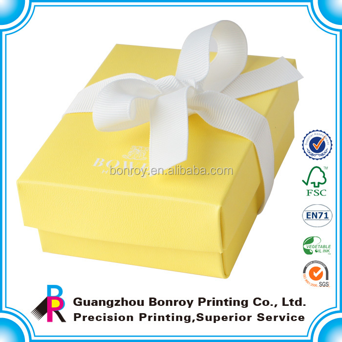 Paper custom logo printed waxed small cardboard jewelry boxes