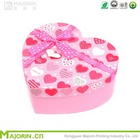 Majorin wholesale colorful heart shaped paper box for candy packaging
