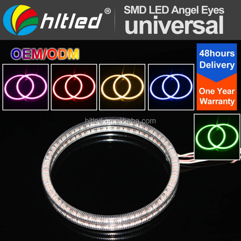 super bright various size multi color 3528 smd led ring angel eye with pc shell