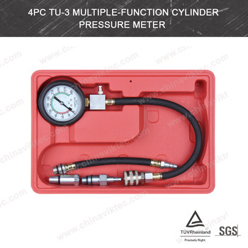 4pc TU-3 Multiple-function Cylinder Pressure Meter for most cars(VT01057)