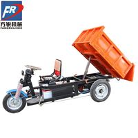 best price electric cargo tricycle bike self-unloading/dumper electric tricycle with two motor/electric dumper