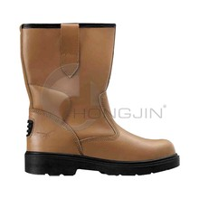 Hongjin High Quality Buffalo Leather Working Boots