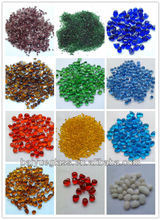 irregular COLORFUL glass beads for swimming pool