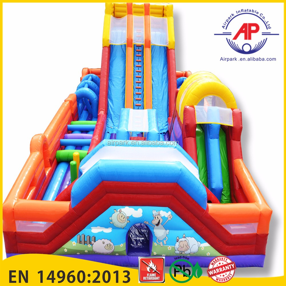 Airpark commercial inflatable fun city,big inflatable games,inflatable toys for kids game