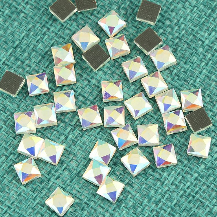 ZH support for Customized all color and size hot fix flatback different types crystal glass faceted beads wholesale