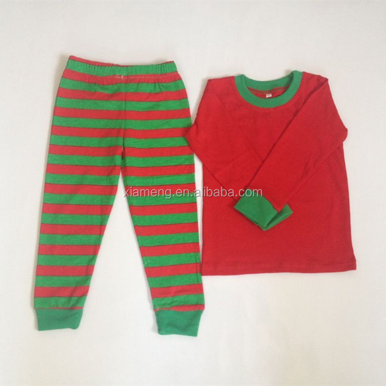 2016 China Alibaba wholesale cheap matching kids christmas pajamas