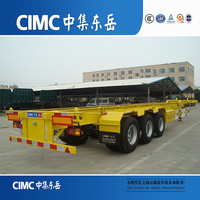 CIMC Trailer Suppliers Skeleton 40 Foot Container Semi Trailer Chassis