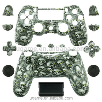 Hydro Dipped Black Skull Replacement Full Housing Shell for ps4