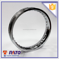 Silver high quality steel motorcycle 14 inch wheels rims