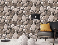 Hot Selling Moisture-proof Modern Style 3D Stone Wallpaper for household