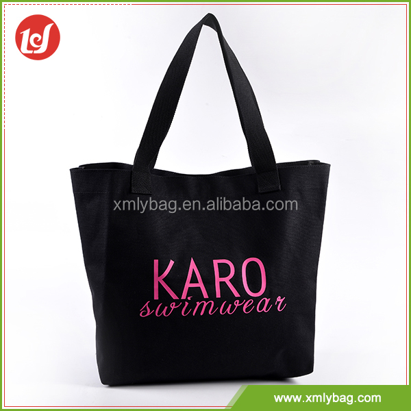 Popular style durable shopping cotton canvas tote bag in OEM