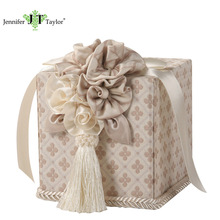 House decoration flower pattern fabric upholstery tissue box, beautiful vintage tissue holder
