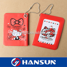 hot sale cheap card holder with ball chain