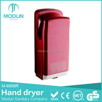 CE UL CB bathroom wall mount high speed dual motor automatic jet air hand dryer