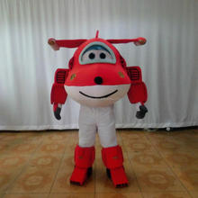 2016 Custom red airplane mascot costume for show