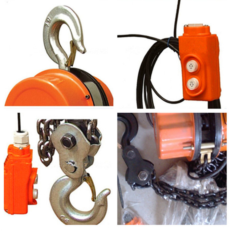 China best supplier electric double hook chain hoist 7.5 ton with long chain