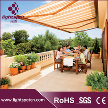 Aluminum roof mounted retractable waterproof awnings
