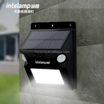 led solar lamp waterproof motion sensor outdoor solar wall light for garden lighting and decoration