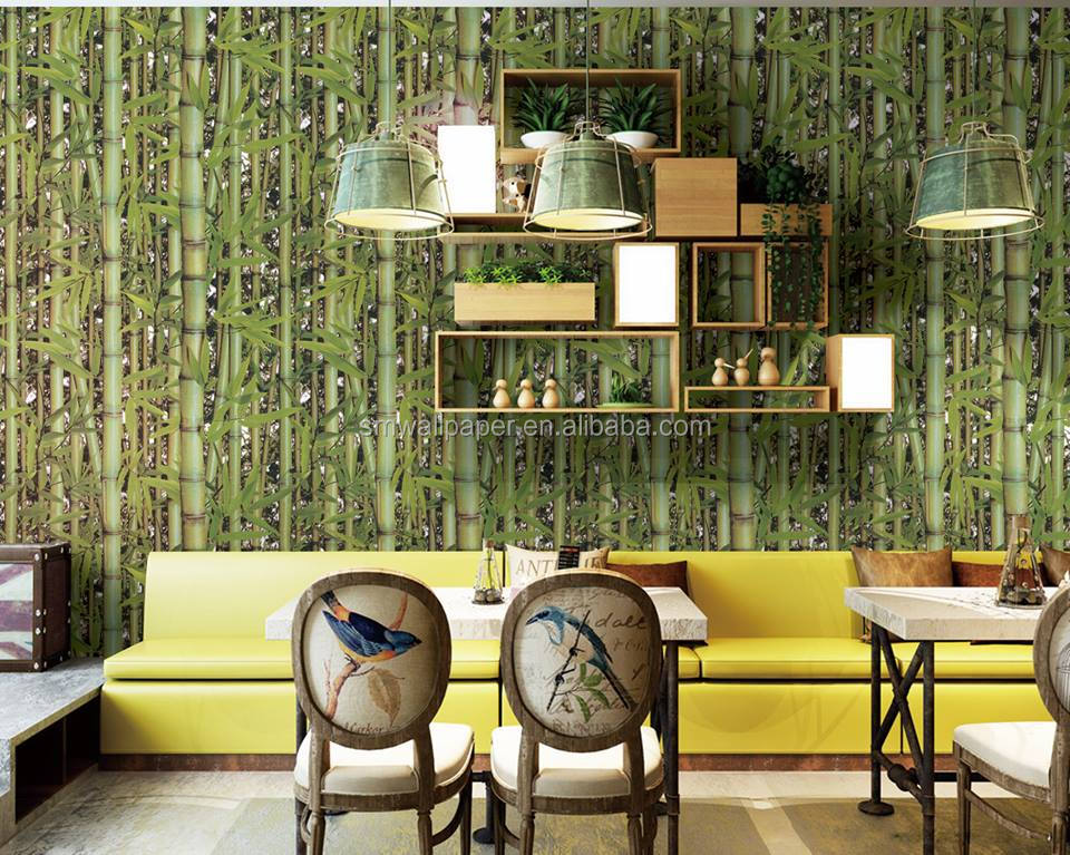 natural designwood washable bamboo Wallpaper for house
