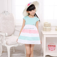 New Fashion high quality latest girls dress casual kids wear