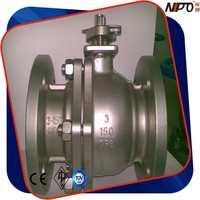 Flanged Stainless Steel Ball Valve with Bare Stem