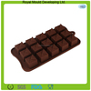 Square shaped silicone mould for chocolate