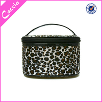 Popular sale bag type and polyester material cosmetic bag with handle