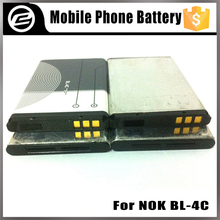 3.7v 800mah 1000mAh 1500mAh mobile phone battery for nokia 6300 6100 X2 6101 2220s 2690 7200 BL-4C battery