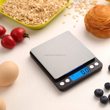 Digital Pocket Kitchen Scale for Christmas Gifts 3000g Food Scale Weight Compact Scale, Tare, Stainless Steel, Backlit Display