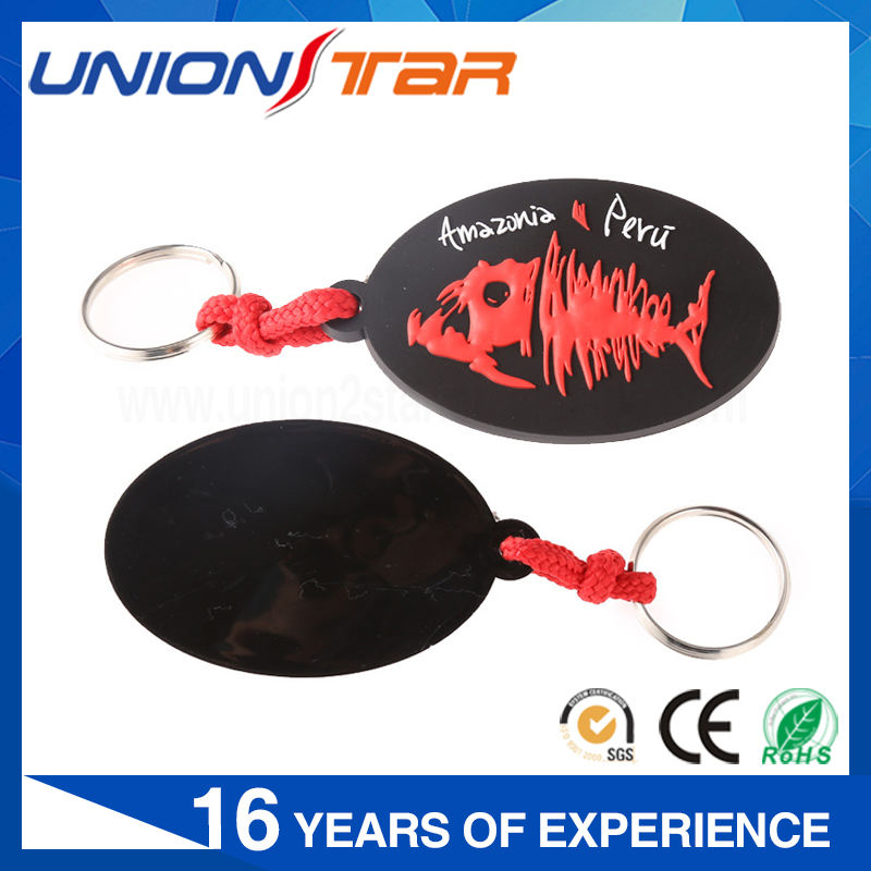 Personalized hot selling 3d pvc rubber keychain