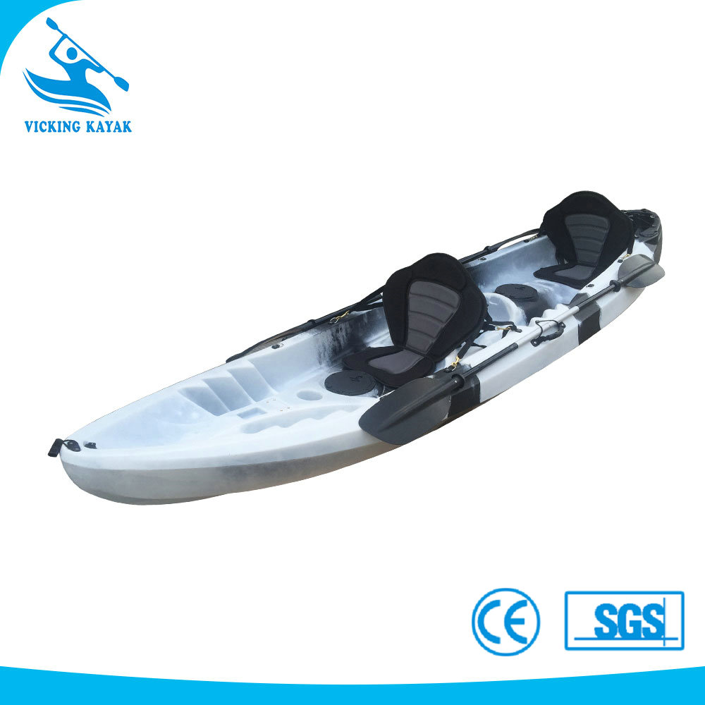Three Person Sit On Top Fishing Kayak Canoe Plastic Fishing Boats