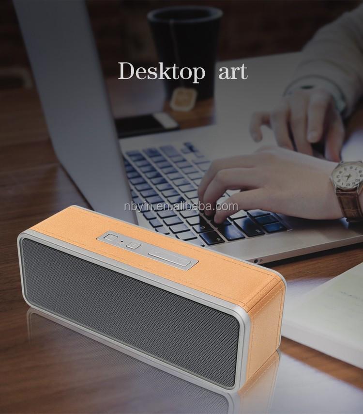 2017 Haut de Gamme Rectangle Numérique Ordinateur Portable Subwoofer Bluetooth Haut-Parleur Avec Mains Libres Sans Fil FM Radio Microphone USB TF AUX IN