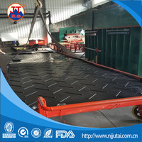 Portable uhmwpe temporary waterproof road mat/plastic ground cover sheet