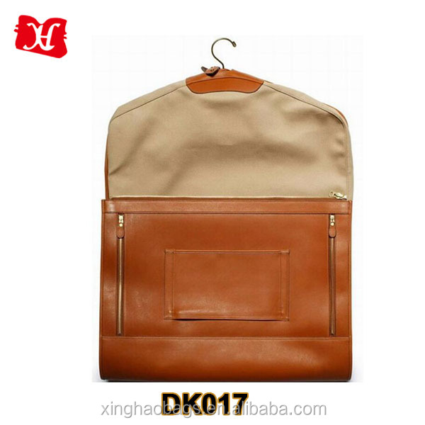 high quality mens leather travel suit garment bag