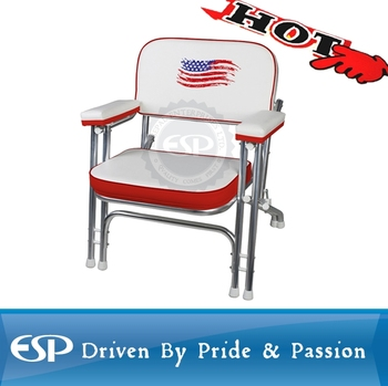 Aluminum folding marine deck chair