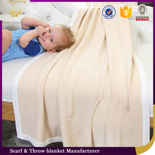 Top Quality Super Soft Brushed Plain Baby Silk Blanket Exported To Japan
