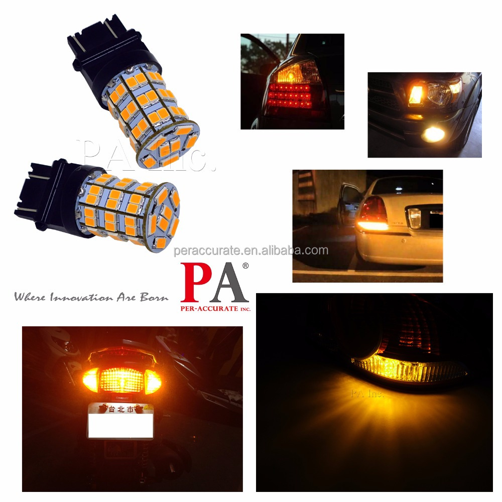 2PCS BA15S BAY15D BA15D <strong>Auto</strong> p21w R5W Turn Signal Lights Car Light Source parking Yellow Amber Orange
